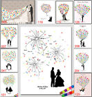 DIY Thumbprint Tree Wedding Guest Book Bride & Groom Canvas Painting+Inkpad $8.45 USD on eBay