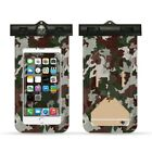 Lot * Camouflage Universal Cover Waterproof Phone Bag Case Swim Waterproof Case