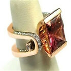 FixedPricefashion ladies rose gold faux diamond ring bridal engagement ring jewelry lh