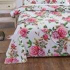 DaDa Bedding Romantic Roses Cotton Flat Bed Sheet Cover Only Spring Pink Floral image