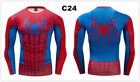 Mens Marvel Superhero Printed T Shirt Running Workout Long Sleeve Top