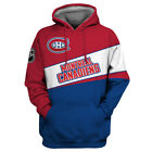 MONTREAL CANADIENS Hoodie Hooded Pullover S-5XL Ice HOCKEY Team Fans NEW DESIGNS $49.99 USD on eBay