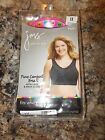Just My Size Black Color Pure Comfort Wirefree Bra Women's Size 1X 2X OR 4X