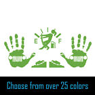 Package of Hand Wave Climbing Jeeps Gas Empty Gauge Vinyl Decals for Jeep Girl