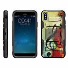 For Apple iPhone XR Armor Rugged Hybrid Holster Belt Clip Case Kickstand