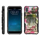 For Apple iPhone XS Max Armor Rugged Hybrid Holster Belt Clip Case Kickstand