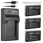 Kastar Battery Slim Charger for CONTAX BP-1500S Tvs Digital & KYOCERA BP-1500S