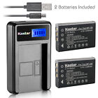 Kastar Battery LCD Charger for CONTAX BP-1500S Tvs Digital & KYOCERA BP-1500S