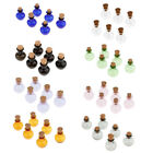 Colorful 6PCS Mini Small Wishing Container Glass Bottle Vial Wood Cork