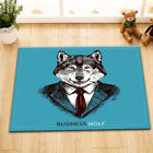 Business Suit Wolf Bathroom Home Decor Waterproof Shower Curtain 12 Hooks Sets
