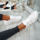 Kyпить WOMENS LADIES LACE UP ROCK STUD PLIMSOLLS TRAINERS SNEAKERS CASUAL SHOES SIZE UK на еВаy.соm