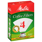 MELITTA #4 Super Premium Cone Coffee Filters, White, 100 Count (Pack of 12)