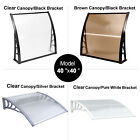 """MCombo 40""""x40"""" Window Awning Polycarbonate Front Door Awning Patio Cover Canopy"""