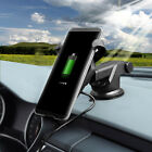 Qi Wireless Charger Car Charging Phone Mount Holder For i Phone 11 X Samsung S10