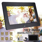 10.2'' HD 1024x600 Digital Photo Frame Clock Movie Music Player + Remote