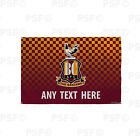 Bradford City FC Official Personalised Retro Shirt 2015 Flag Banner BCB005