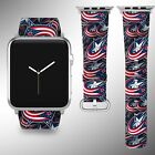Columbus Blue Jackets Apple Watch Band 38 40 42 44 mm Series 1 - 5 Wrist Strap $32.99 USD on eBay