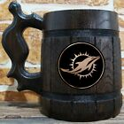 Miami Dolphins Wooden Beer Stein, American Football, Custom Beer Gift for Men $26.99 USD on eBay