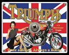 TRIUMPH HURRICANE TRIPLE BRITISH MOTORCYCLE MOTORBIKE METAL SIGN TIN PLAQUE 169 $8.74 USD on eBay