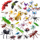 Auihiay 36 Pack Large Plastic Insect Figures Toys Assorted Insect Bugs Includes