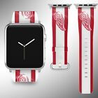 Detroit Red Wings Apple Watch Band 38 40 42 44 mm Fabric Leather Strap 02 $29.97 USD on eBay