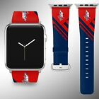 Washington Capitals Apple Watch Band 38 40 42 44 mm Fabric Leather Strap 02 $29.97 USD on eBay