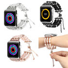 For Apple Watch Series 4 3 2  Elastic Agate Watch Band Strap Bracelet Lady Women image