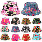 Womens Floral Bucket Hat Hiking Camping Boonie Summer Outdoor Sun Fishing Caps