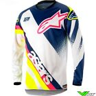 Alpinestars Youth Racer Supermatic Jersey Blue White Fluo New