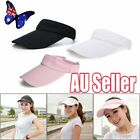 Visor Sun Hat Golf Tennis Beach Men Women Cap Adjustable Sports Gym Plain VW