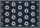 Winnipeg Jets NHL Team Repeat Area Rug Milliken $449.0 USD on eBay