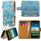 Leather Smart Stand Wallet Card Cover Case For Various ZTE Smartphones