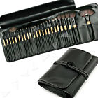 Professional Beauty Cosmetics Soft Makeup Brush with Luxury Leather Bag Set NEW