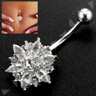 Belly Bars Navel Drop Button Ring Body Piercing Surgical Stainless Steel Jewelry