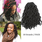 """12"""" Goddess Faux Locs Curly Crochet Braids Synthetic Dreads Locs Hair Extensions"""