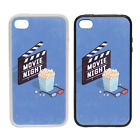 Movie Night - Rubber or Plastic Phone Case #2 - Cinema Film Screen Popcorn 3D