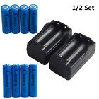 18650 Battery + Dual Rechargeable Charger Li-ion Batteries for Flashlight Lamp