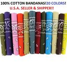 Внешний вид - Lot Of 12 100% Cotton Paisley Print Scarf Bandanas Head Wrap Wristband Wholesale