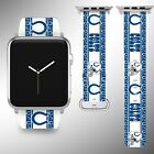 Indianapolis Colts Apple Watch Band 38 40 42 44 mm Series 1 - 5 Wrist Strap 05 $32.99 USD on eBay
