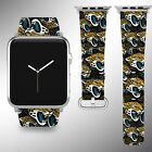Jacksonville Jaguars Apple Watch Band 38 40 42 44 mm Series 1 - 4 Wrist Strap 04 on eBay