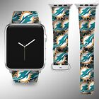 Miami Dolphins Apple Watch Band 38 40 42 44 mm Series 1 2 3 4 Wrist Strap 04 on eBay