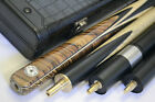 New 3/4 Handmade Ash Ebony Snooker Cue Pool Cue 8.5mm Tip Small Tip £42.99 GBP on eBay