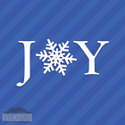 Joy Snowflake Vinyl Decal Sticker Christmas Winter Holidays