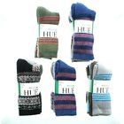 Hue Womens 4 Pack Wool Blend Arch Support Crew Length Socks, Sz 4-10