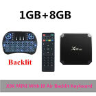 Android 7.1 Internet TV BOX  2.4G 4K IPTV Quad-Core WiFi Media Player + Keyboard
