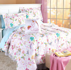 Twin or Full Size Comforter Set Unicorn Bedding White Colorful Kids Teens Pillow
