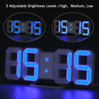 Electric LED Digital Numbers Wall Clock Alarm Snooze Clock USB DC Battery Power