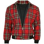 Relco Red Tartan Harrington Jacket Skinhead Mod Scooter Ska Punk Retro CLEARANCE