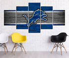 Detroit Lions HD Print Oil Painting Home Decor Art On Canvas 5PCS Unframed $28.0 USD on eBay