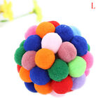 Pet Cat Toy Colorful Handmade Bell Bouncy Ball Built In Catnip Interactive ToyFT